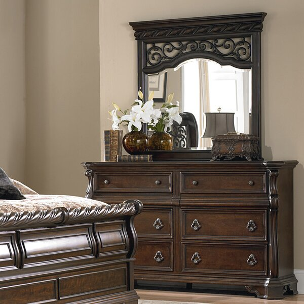 Kate 6 Drawer Double Dresser With Mirror By Astoria Grand