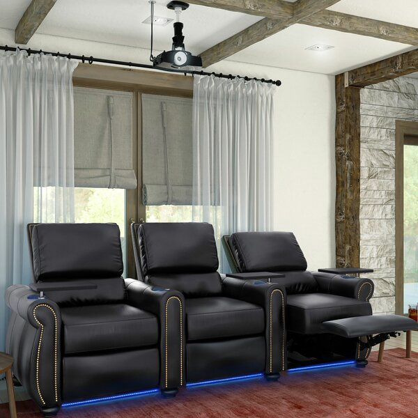 Stallion HR Series Home Theater Recliner (Row Of 3) By Red Barrel Studio