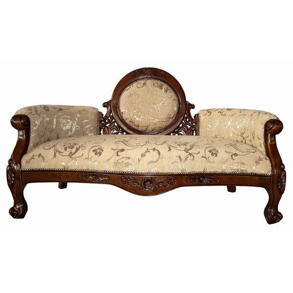 Victorian Cameo-Backed Loveseat by Design Toscano