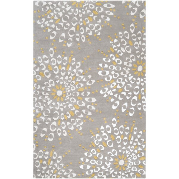 Romola Gray Area Rug by Ivy Bronx