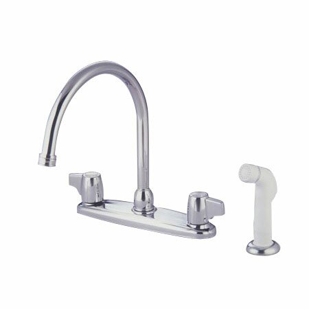 Franklin Double Handle Kitchen Faucet with Side Spray by Elements of Design