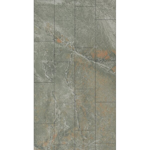Ikema 12 x 24 Porcelain Field Tile in Graphite by Parvatile