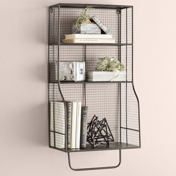 Wyble Distressed Wall Storage Organizer