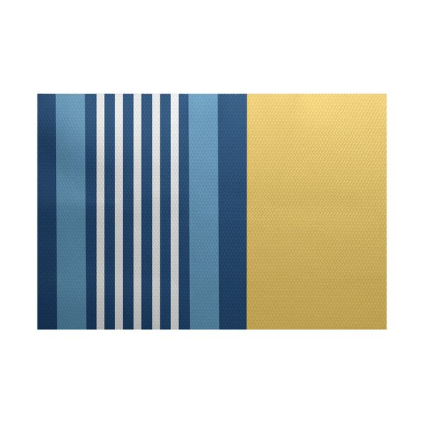 Bartow Yellow/Blue Indoor/Outdoor Area Rug by Breakwater Bay