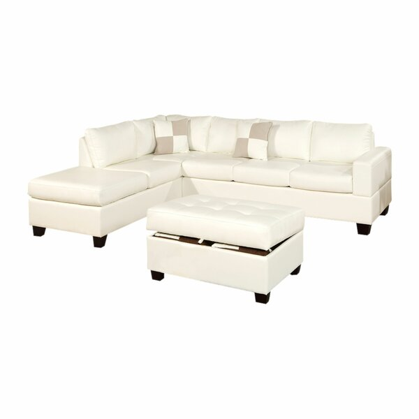 Lyke 3 Piece Left Hand Facing Sectional With Ottoman By Latitude Run