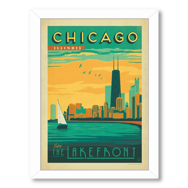 Chicago Lakefront Framed Vintage Advertisement by East Urban Home