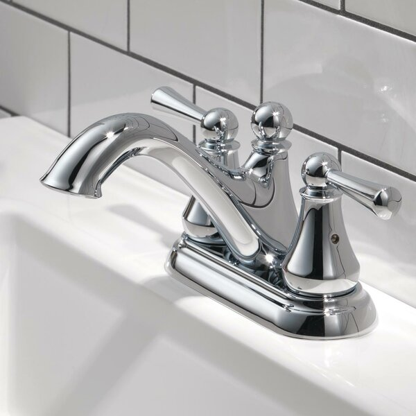 Haywood Centerset Bathroom Faucet with Optional Pop-Up Drain Assembly by Delta