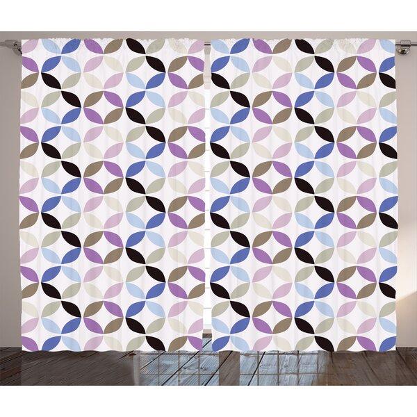 Fractal Decor Room Darkening Rod Pocket Curtain Panels (Set of 2) by East Urban Home