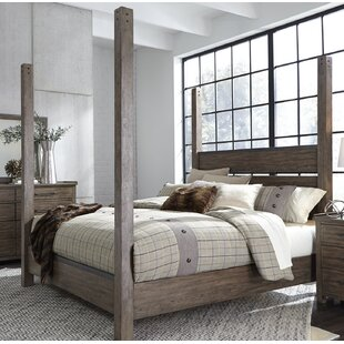 Clayton Four Poster Bed by Gracie Oaks
