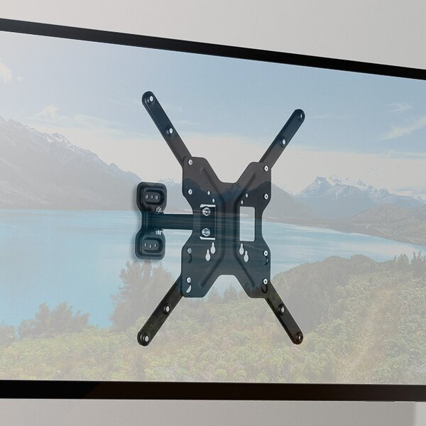 Full Motion Universal Wall Mount for 23- 55 Flat Panel Screen by Bitcom Technologies