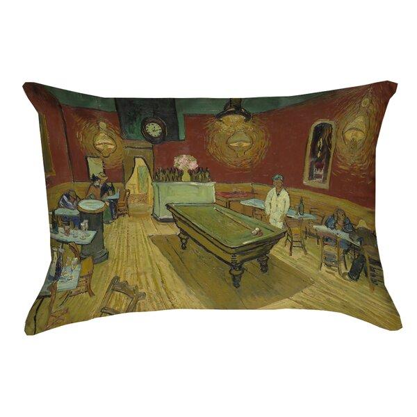Burdick The Night Cafe Indoor Pillow Cover by Fleur De Lis Living