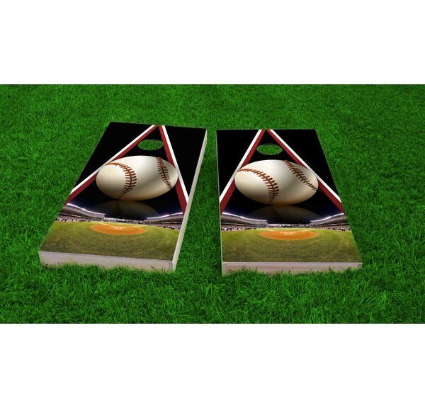 Baseball Cornhole Game Set by Custom Cornhole Boards