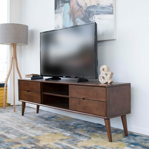 Fuhrman Solid Wood TV Stand For TVs Up To 78