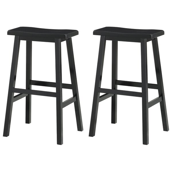 Hage 29 Bar Stool (Set of 2) by Breakwater Bay