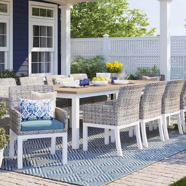 Caspian 11 Piece Dining Set with Cushions
