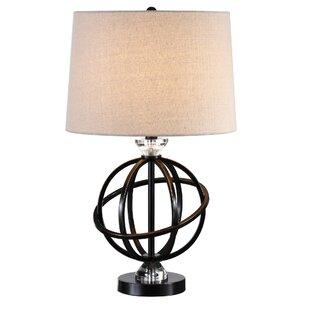 Read Reviews Augie Metal Orb 25 Table Lamp By Wrought Studio