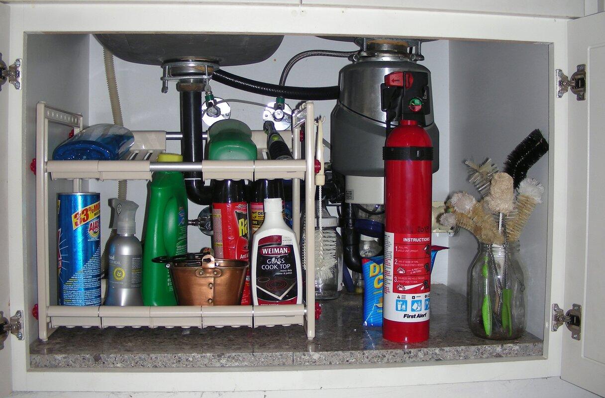 rebrilliant under sink storage shelf reviews. Black Bedroom Furniture Sets. Home Design Ideas