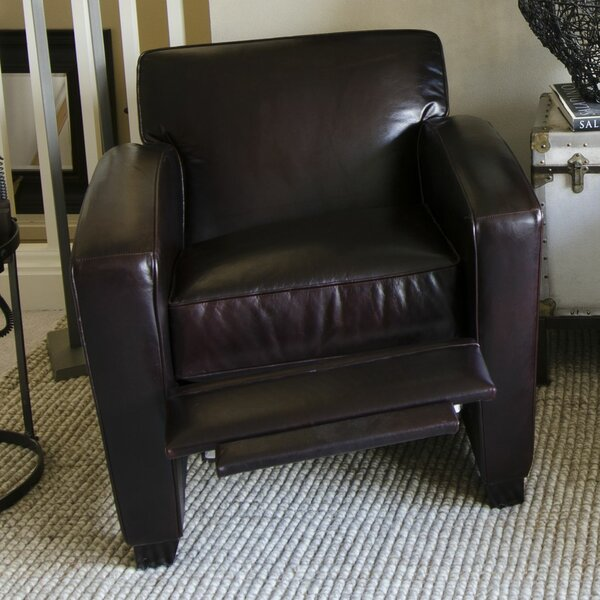 Brady Leather Manual Recliner by Elements Fine Home Furnishings