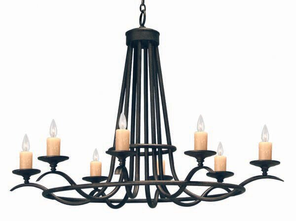 Octavia 8-Light Candle Style Wagon Wheel Chandelier by 2nd Ave Design 2nd Ave Design