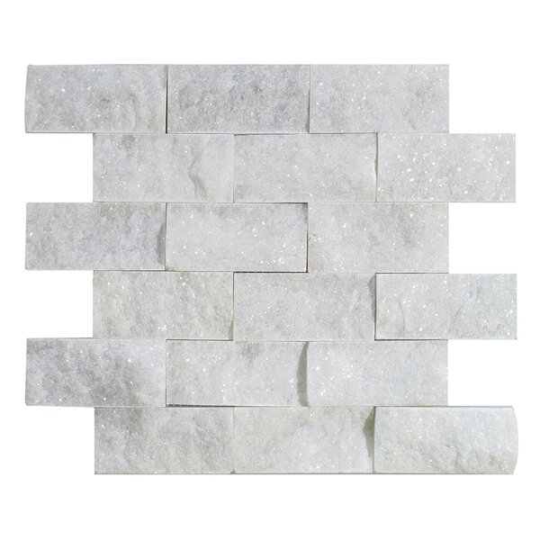 Milas 2 x 4 Marble Mosaic Tile in Polished White by Seven Seas