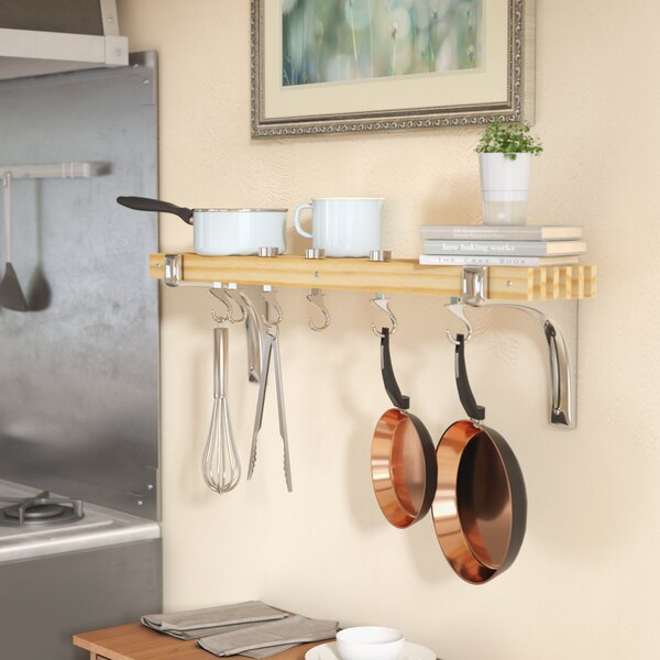Wall Mounted Pot Rack by Rebrilliant
