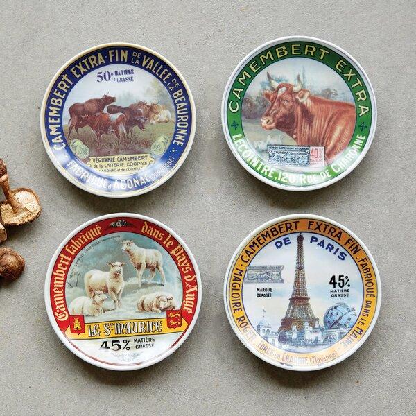 Vivanco 4 Piece 4.6 Stoneware Plate Set by Gracie Oaks