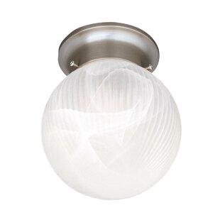 Compare Mcgowen 1-Light Semi Flush Mount By Ebern Designs