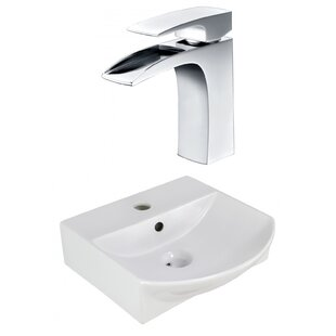 Find a Ceramic 13.75 Bathroom Sink with Faucet and Overflow ByRoyal Purple Bath Kitchen