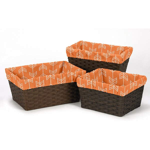 Arrow 3 Piece Basket Liner Set by Sweet Jojo Designs