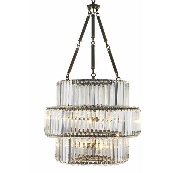 6 - Light Lantern Tiered Chandelier by Eichholtz Eichholtz