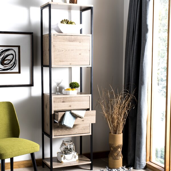 Saucier Mid Century Wood Etagere Bookcase by 17 Stories