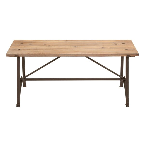 Doucet Wood Bench by Millwood Pines Millwood Pines