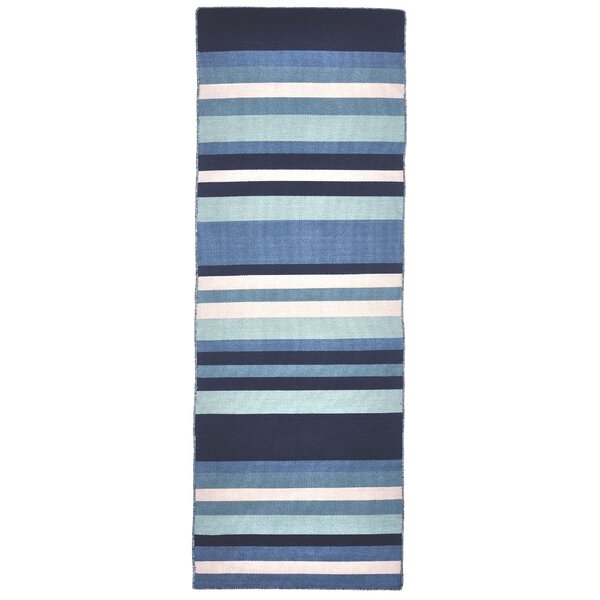 Ranier Hand-Woven Blue Indoor/Outdoor Area Rug by