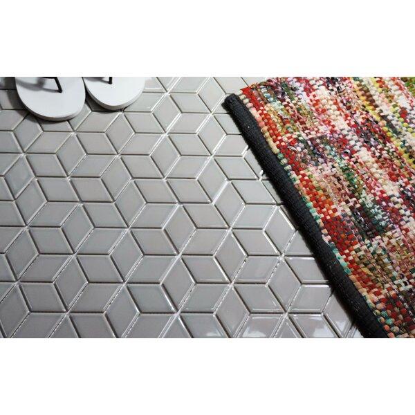 Paris Rhombus 2 x 3 Porcelain Mosaic Tile