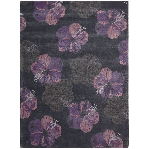 Sanjeev Hand-Woven Ink/Plum Area Rug by Bayou Breeze
