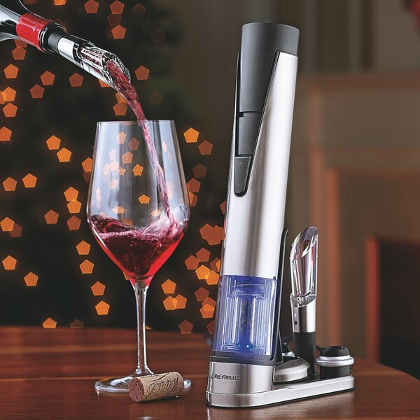 Electric Blue 1 Wine Opener and Preserver Set by Wine Enthusiast