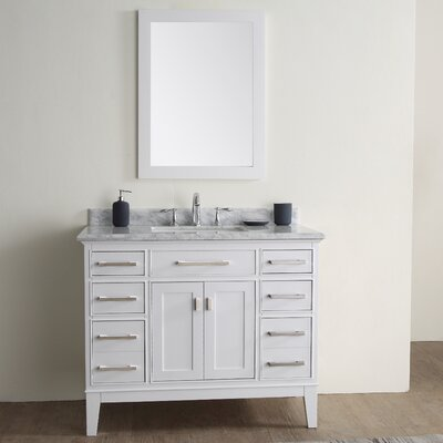 "Bathroom Vanities Set ari kitchen & bath danny 42"" single bathroom vanity set & reviews"