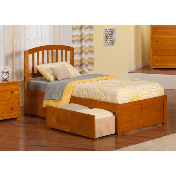 Timmy Extra Long Twin Slat Bed with Storage by Viv + Rae