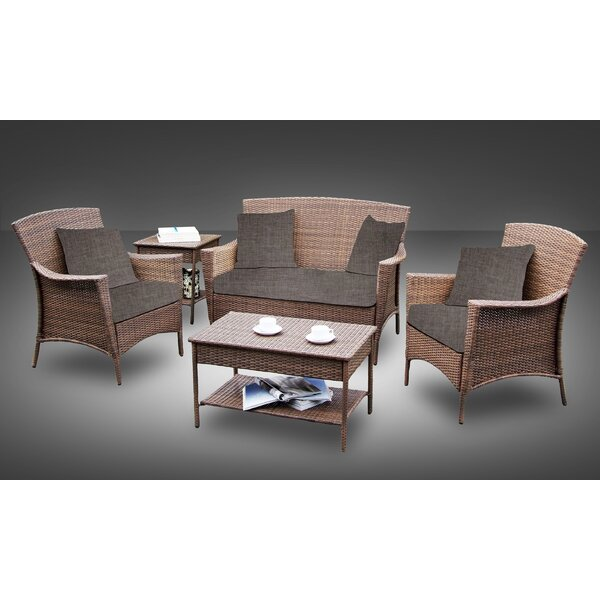 Hudson 5 Piece Sofa Set with Cushions by Best Desu, Inc.