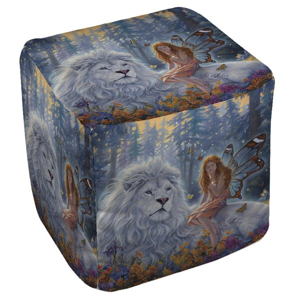 Star Birth Pouf By Manual Woodworkers & Weavers Wonderful