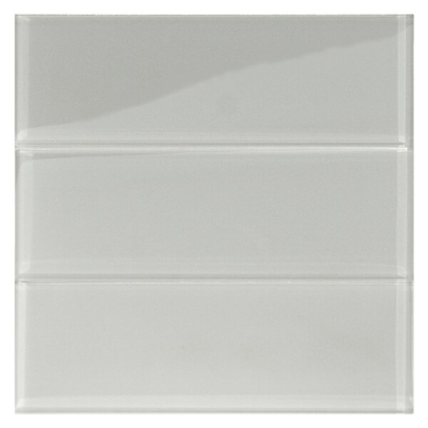 Lithium 4 x 12 Glass Mosaic Tile in Smoke by CNK Tile