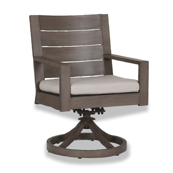 Laguna Swivel Patio Dining Chair with Cushion by Sunset West