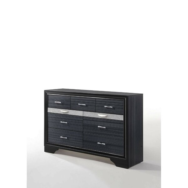 Morvant Wooden 9 Drawer Double Dresser by Orren Ellis