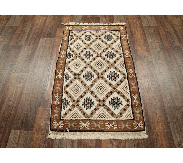 One-of-a-Kind Lam Oriental Hand-Knotted Wool Beige/Ivory Area Rug by Union Rustic
