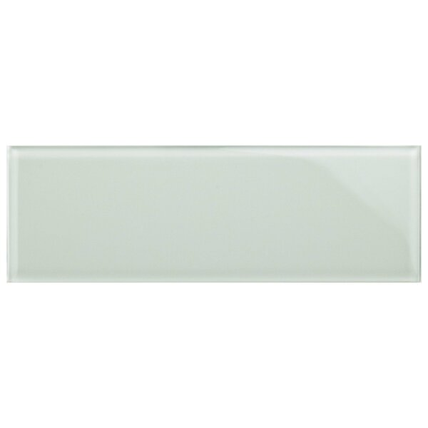 Sierra 4 x 12 Glass Field Tile in Ice White by EliteTile