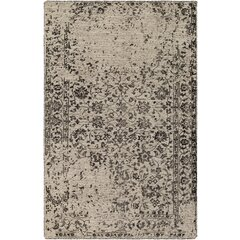 Jayden Hand-Knotted Black/Khaki Area Rug by Bungalow Rose