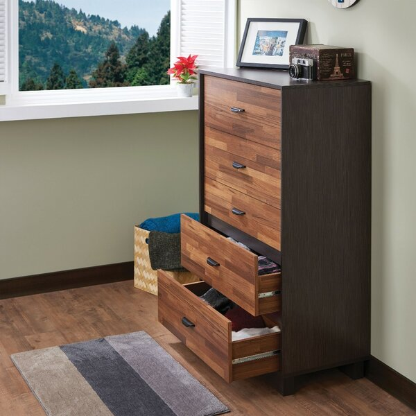Poyner Wooden 5 Drawer Chest by Union Rustic