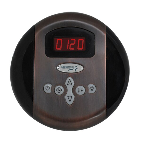 SteamSpa Programmable Control Panel with Presets in Oil Rubbed Bronze by Steam Spa