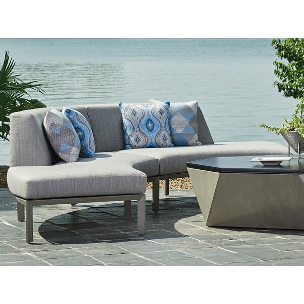 Del Mar Curved Sectional With Cushions By Tommy Bahama Home