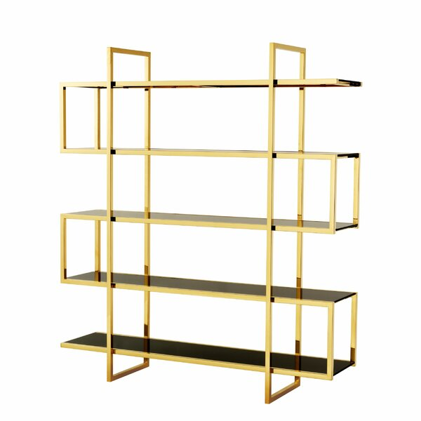 Review Steel Geometric Bookcase
